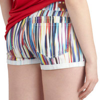 Dittos An Air of Style Shorts in Rainbow | Mod Retro Vintage Shorts | ModCloth.com