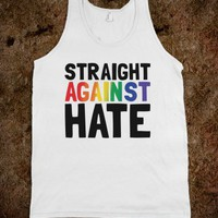 Straight Against Hate - RainbowCircus - Skreened T-shirts, Organic Shirts, Hoodies, Kids Tees, Baby One-Pieces and Tote Bags