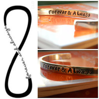 forever & always bracelet 1/4 inch wide
