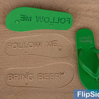 Follow Me Bring Beer -- Custom Flip-Flops