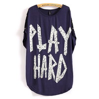 Play Hard Loose T-shirt With Skull Bottons