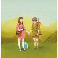Moonrise Kingdom Art Print by Roland The Illustrator