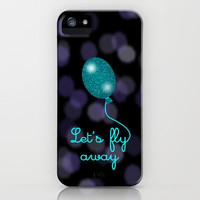 Balloon Love:  Let's Fly Away iPhone & iPod Case by Alice Gosling
