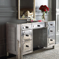Logan Mirrored Vanity/Desk