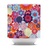 "Louise Machado ""Patchwork Flowers"" Shower Curtain 