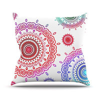 "Monika Strigel ""Rainbow Infinity"" Throw Pillow 