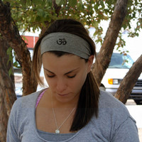 Om Symbol Yoga Headband - FREE SHIPPING -- Wide Hair Accessory