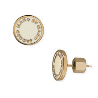 MARC BY MARC JACOBS Enamel Logo Disc Earrings