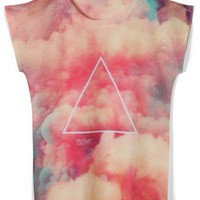Red Galaxy Cloud T-shirt