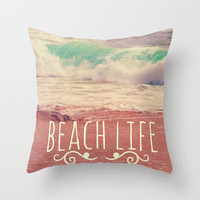 Beach Life Throw Pillow by Josrick