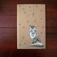 Notebook Prince Fox Original Artwork by SarahEln on Etsy