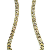 Pave Pyramid Necklace by Eddie Borgo for Preorder on Moda Operandi