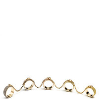 Pave Five Finger Ring by Eddie Borgo for Preorder on Moda Operandi