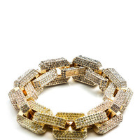 Pave Large Supra Link Bracelet by Eddie Borgo for Preorder on Moda Operandi