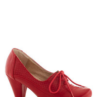 Right Here Heel in Red | Mod Retro Vintage Heels | ModCloth.com