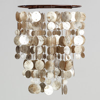 "8"" Coffee Capiz Hanging Pendant Lantern - World Market"