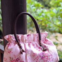 Pink Floral Classic Beauty - Diaper Bag,Every day Bag,Cosmetics Bag,Purse Bag, Tote Bag