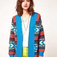 ASOS | ASOS Bright Cardigan In Peruvian Pattern at ASOS