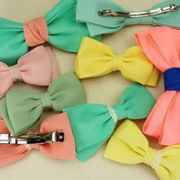Candy Color Bowtie for Women Hair from SarahHunt