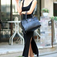 Flirty Little Black Dress. Sexy Side Splits Sleeveless Dress