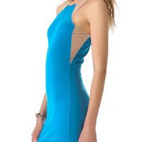 Mason by Michelle Mason Tank Dress with Mesh Insets | SHOPBOP