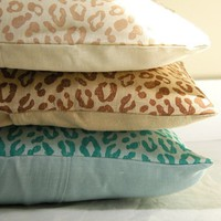 Beach Leopard Print Linen Pillow case