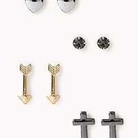 Cross & Arrow Stud Set