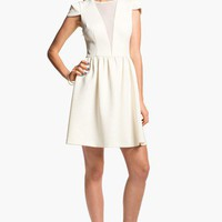 En Crème Cap Sleeve Skater Dress (Juniors) | Nordstrom