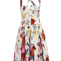 Butterfly-print cotton dress | Dolce & Gabbana | Matchesfashio...