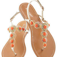 Coral That Jazz Sandal | Mod Retro Vintage Sandals | ModCloth.com