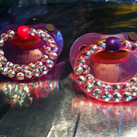 The Marilyn Swarovski Crystal Pacifier set of 2 by Dressupcastle