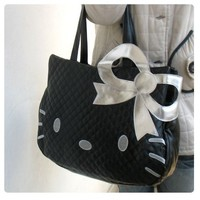 Hello Kitty Head Shaped Tote Shoulder...