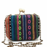 woven southwest clutch &amp;#36;29.90 in MULTIGOLD - Clutches | GoJane.com