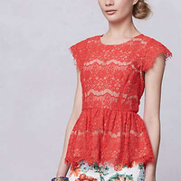 Anthropologie - Katrine Peplum Top