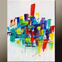 Abstract Art Canvas Painting 18x24 Contemporary Art Paintings by Destiny Womack - dWo - Changes