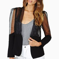 Sheer Shot Blazer - Black