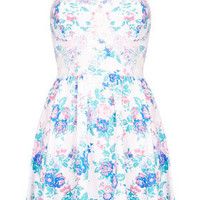 Floral Corset Tunic - Dresses  - Clothing