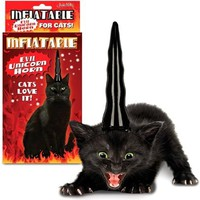 Inflatable Evil Unicorn Horn for Cats