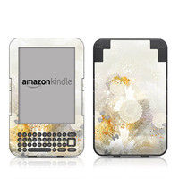 Kindle Keyboard Skin - White Velvet by Iveta Abolina