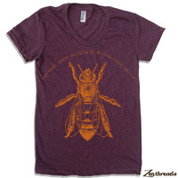 Womens EAT HONEY american apparel t shirt S M L XL (17 Color Options)