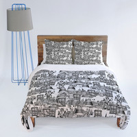 DENY Designs Home Accessories | Sharon Turner Walking Doodle Toile De Jouy Duvet Cover
