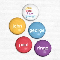 Beatles Minimalist Fab Four Names