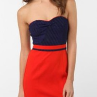 Silence & Noise Sweetheart Bodycon Dress