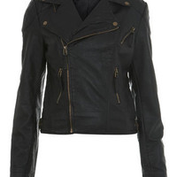 Seam Detail Biker Jacket - Miss Selfridge