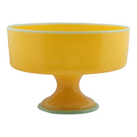 Decicio Glass Semplice glass platter in yellow and green - $480.00 : Far4, Shopping Reimagined