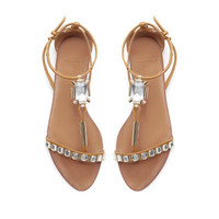 RHINESTONES SANDALS - Shoes - Woman | ZARA United States