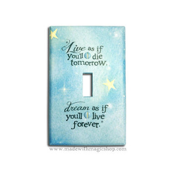 Live And Dream - Handmade Switch Plate