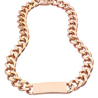 Luv AJ Rose Gold Enamel ID Necklace - Max & Chloe