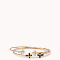 Lacquered Cross Bangle Set