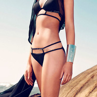 Women Caged Geometric Cutout Padded Bikini Set Bathing Suit Beach Wear Swimwear
